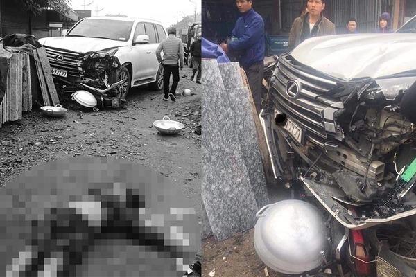 Lexus biển ngũ quý 7 tông chết một phụ nữ